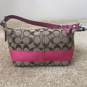Pink Coach Signature Mini Bag